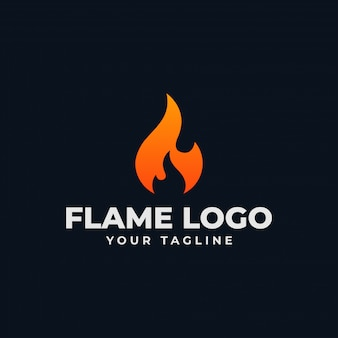 Abstract fire flame, burn logo design template