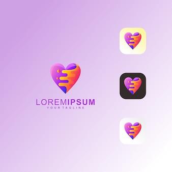Abstract purple love splash logotipo premium