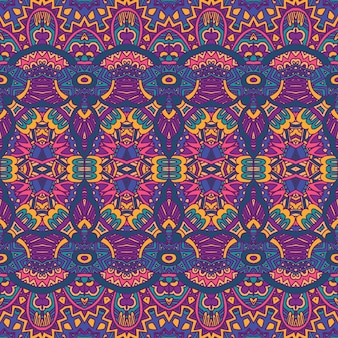 Abstractas festivas coloridas étnicas tribales bohemias patrones sin fisuras nómadas geométricas
