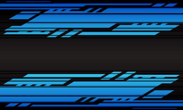 Abstracto azul ciber geométrico sobre fondo gris oscuro moderno diseño futurista.