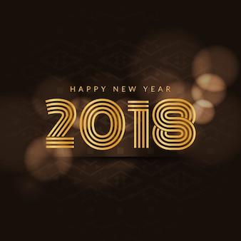 Abstracto colorido feliz año nuevo 2018 fondo
