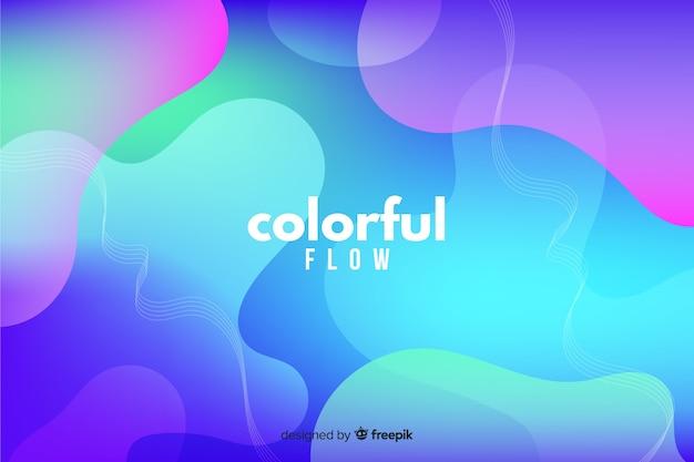 Abstracto colorido que fluye fondo de formas