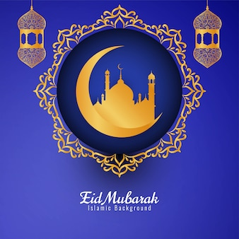 Abstracto eid mubarak festival decorativo.