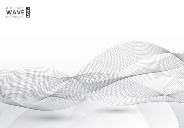 Abstracto elegante líneas grises olas de fondo