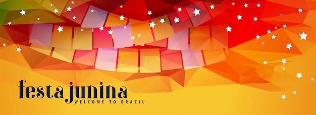 Abstracto festival de fiesta junina banner