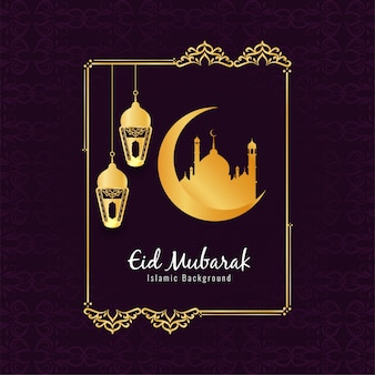 Abstracto festival islam de eid mubarak