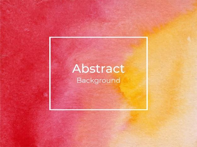 Abstracto fondo acuarela rojo y amarillo