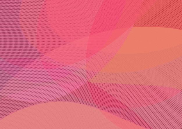 Abstracto fondo rojo y naranja con trama de semitonos