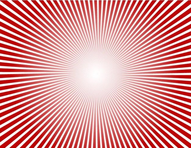 Abstracto fondo rojo sunburst