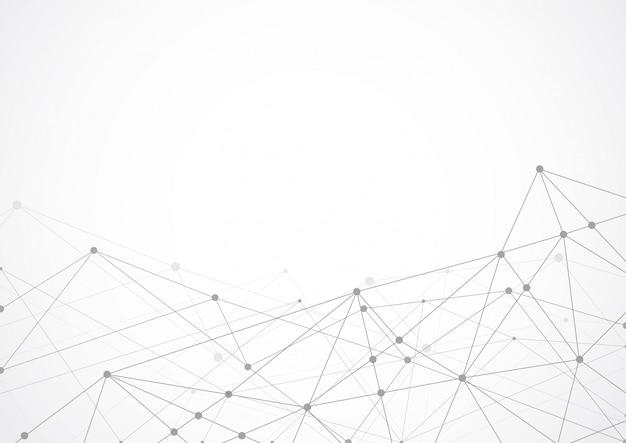 Abstracto geométrico conectando puntos y líneas