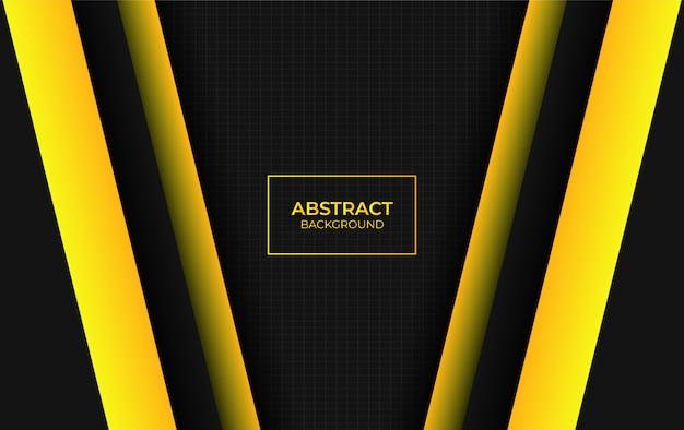 Abstracto moderno amarillo y negro