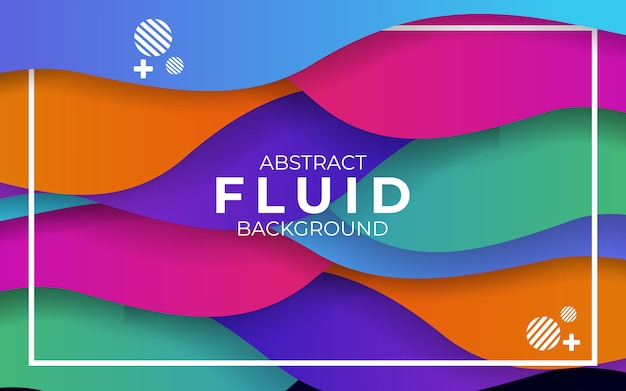 Abstracto moderno colorido ondulado fluido y líquido fondo
