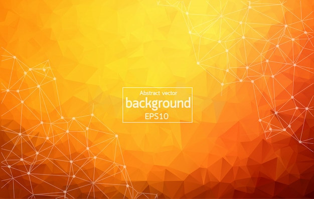 Abstracto naranja oscuro fondo geométrico poligonal