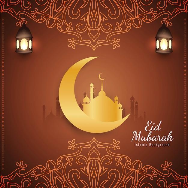 Abstracto religioso eid mubarak islámico