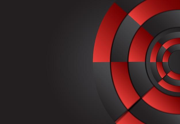 Abstracto rojo y negro capa geométrica