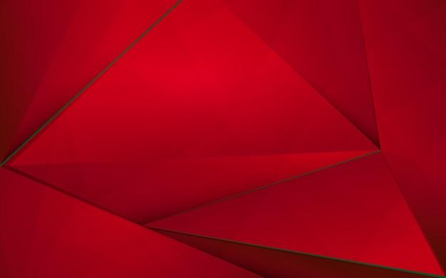 Abstracto rojo poligonal con fondo abstracto de navidad