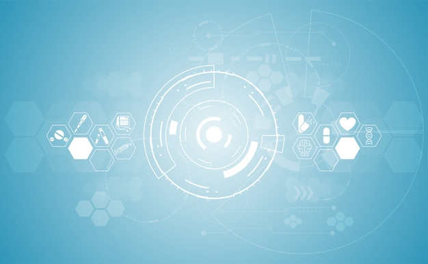 Abstracto salud ciencia médica fondo sanitario tecnología digital
