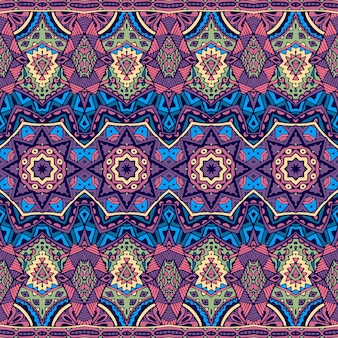 Abstracto tribal vintage indio textil étnico sin fisuras patrón ornamental