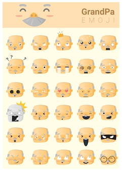 Abuela emoji iconos