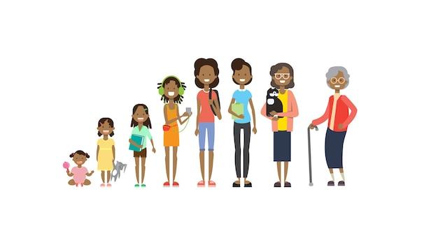 Abuelos africanos padres nietos mujer