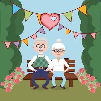 Abuelos encantadora pareja