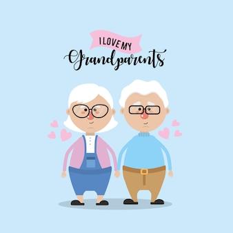 Abuelos pareja juntos y amor lindo