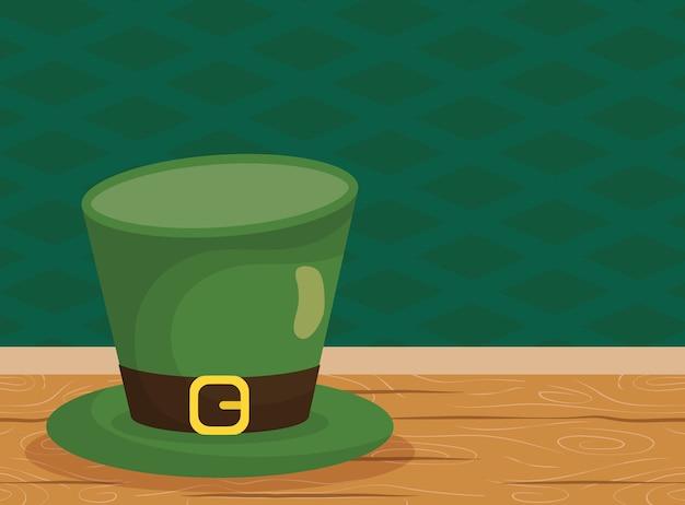 Accesorio sombrero de duende de san patricio