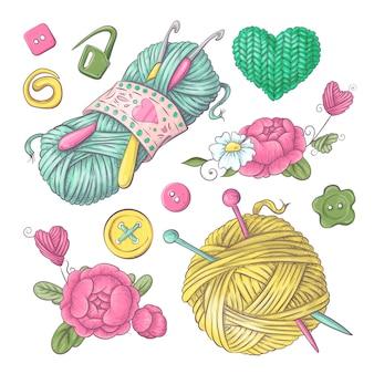 Accesorios para crochet y tejido.