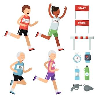 Accesorios deportivos para corredores.