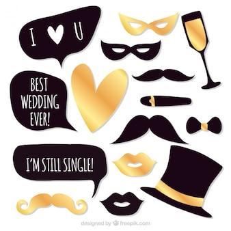 Accesorios elegantes de fiesta para bodas