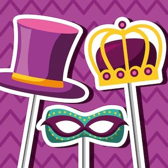 Accesorios del festival de carnaval