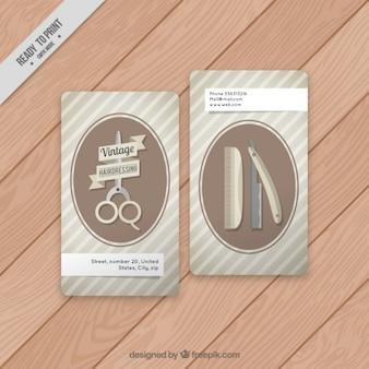 Accesorios del peluquero tarjetas de la vendimia
