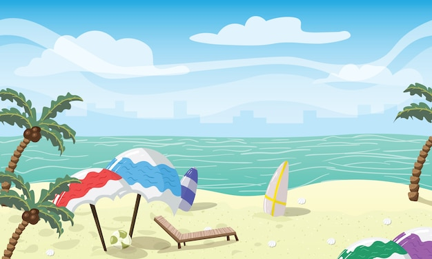 Accesorios de playa de colores
