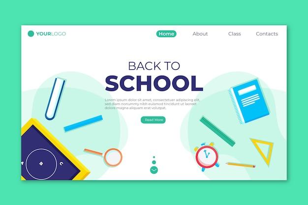 Accesorios de regreso a la página de inicio de la escuela