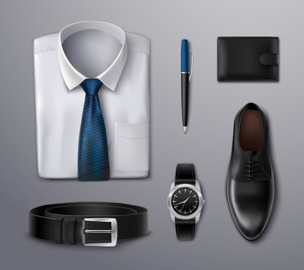 Accesorios de ropa de hombre de negocios