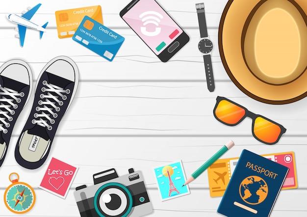 Accesorios de viaje alrededor del mundo.
