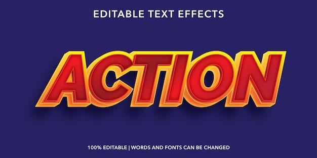 Acción efecto de texto editable