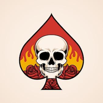 Ace of spade skull