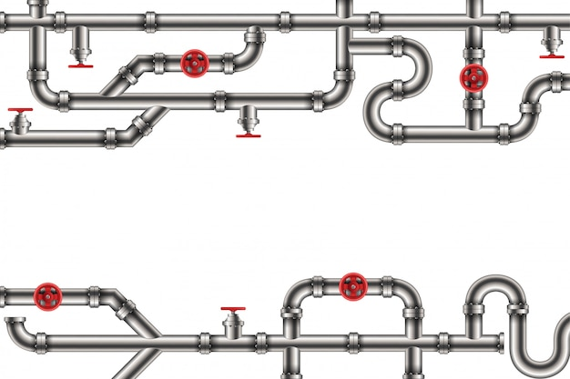Aceite industrial, agua, fondo de sistema de tubería de gas.