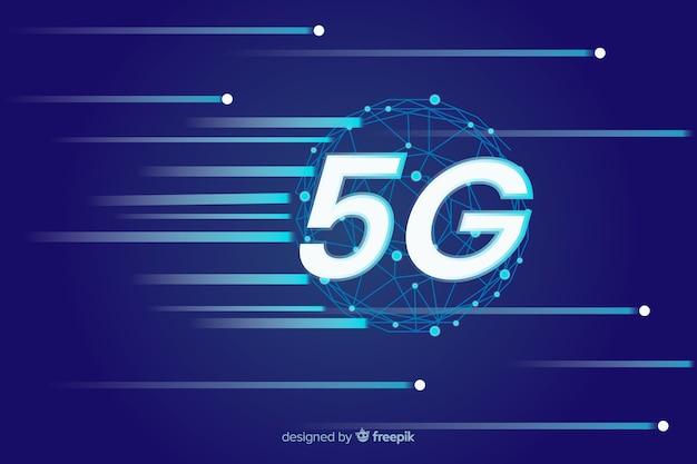 Acelerar el poder de internet en el fondo del concepto 5g