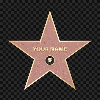 Acera famoso actor estrella. paseo de la fama de hollywood