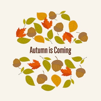 Se acerca el otoño de fondo