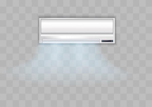 Acondicionador blanco sobre un fondo transparente.