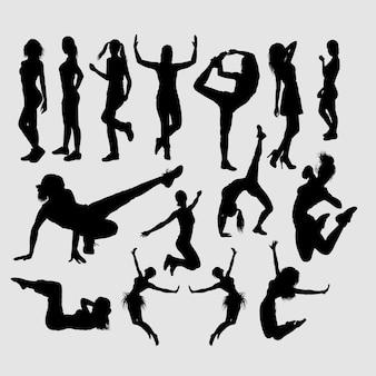 Actividad deportiva de chicas deportistas.