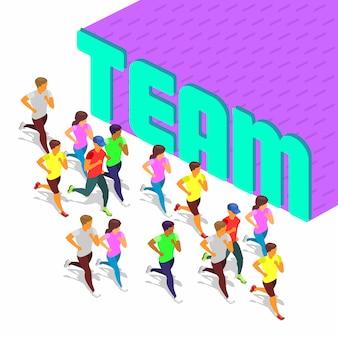 Actividad deportiva en equipo.