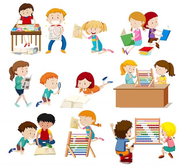Actividad de grupo de alumnos.