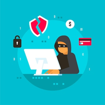 Actividad de hackers buscando y robando información