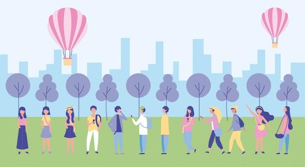 Actividades al aire libre de personas