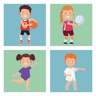 Actividades para cuatro niños