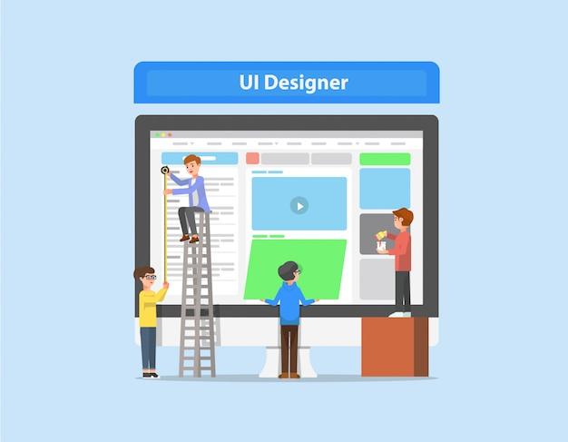 Las actividades de los diseñadores de interfaces de usuario.